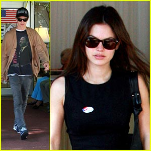 Rachel Bilson & Hayden Christensen: We Voted!
