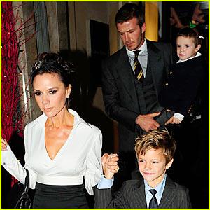 The Beckhams Celebrate Christmas Eve