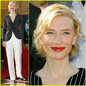 Cate Blanchett Stars On Walk of Fame