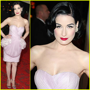 Dita Von Teese Hits British Comedy Awards