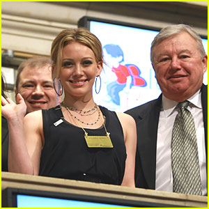 Hilary Duff is a Stock Exchange Star