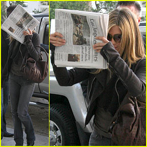 Jennifer Aniston Covers Up With The LA Times
