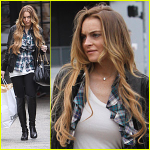 Lindsay Lohan Does Diesel Shopping