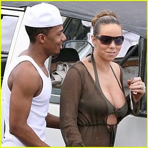 Mariah Carey Sips Wine, Not Pregnant