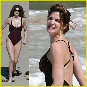 stephanie seymour still sizzles celebrity babies stephanie