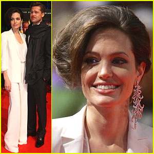 Angelina Jolie is Akris Suit-able