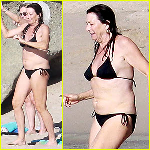 Anjelica Huston Goes Bikini Bare