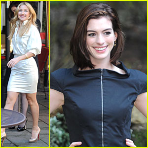 Anne Hathaway & Kate Hudson: Legs for Days!