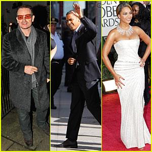 Beyonce & Bono to Play for Barack