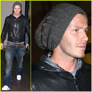 David Beckham Has Beanie Bravado