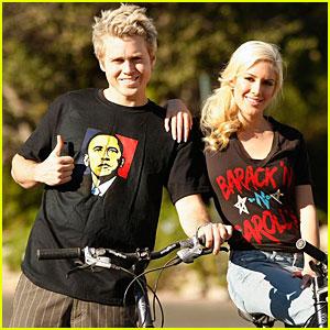 Heidi & Spencer Go Bikin' for Barack