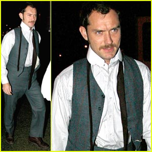 Jude Law is the Mustache Man