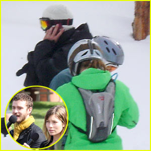 Justin Timberlake & Jessica Biel: Snowboarding Aces!
