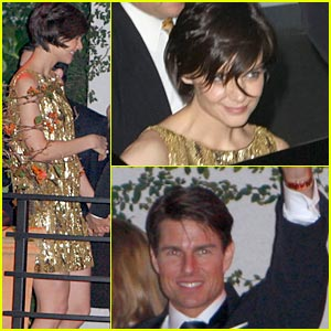 Katie Holmes Hits Golden Globes Party