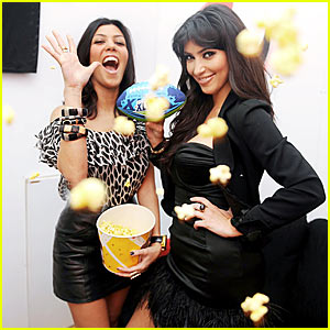 Kim Kardashian is Popcorn Playful