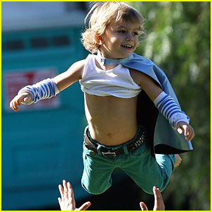 Kingston Rossdale is Superman!