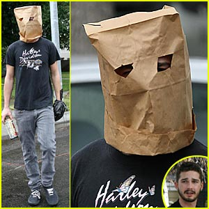 Shia LaBeouf: Paper Bag Head