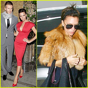 Victoria Beckham Sports Faux Fur