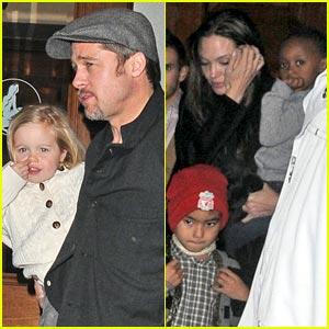 Brad Pitt & Angelina Jolie: Little Mermaid!
