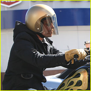 Brad Pitt Has Motorcycle Madness