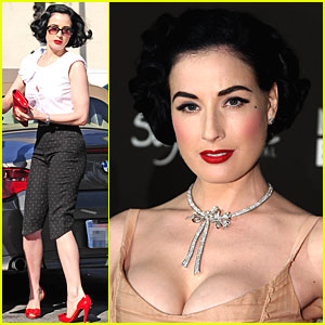 Dita Von Teese Looks Montblanc Marvelous