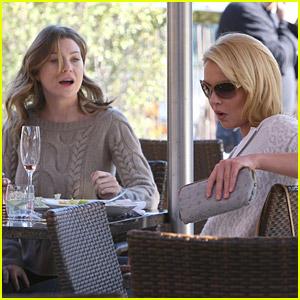 Ellen Pompeo and Katherine Heigl Munch On Lunch