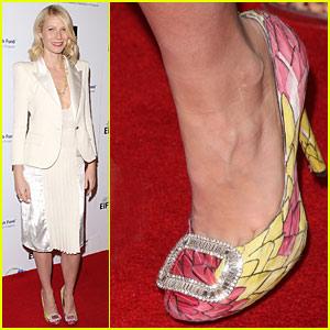 Gwyneth Paltrow: Feathered Footwear