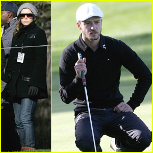 Jessica Biel is Golf Gazing