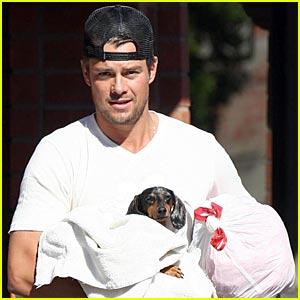 Josh Duhamel Cradles His Wiener