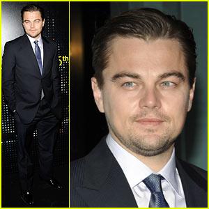 Leonardo DiCaprio Arrives Via Hybrid Limousine