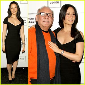 Lucy Liu Loves Herve Leger