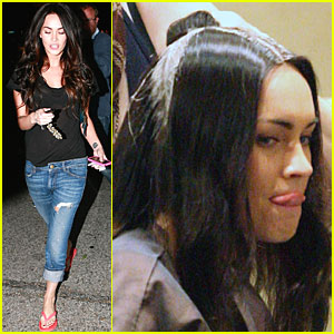 Megan Fox Slips Some Tongue