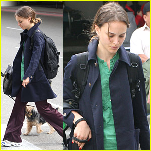 Natalie Portman is Dogged at LAX