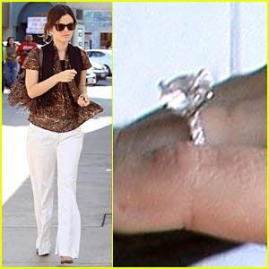 Rachel Bilson Flashes Her Engagement Ring Bling