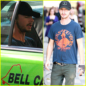 Shia LaBeouf Rings the Bell Cab