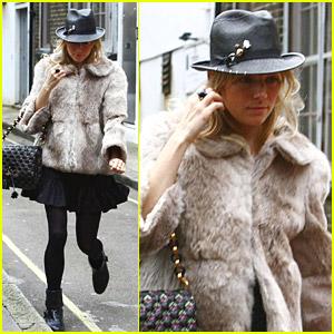 Sienna Miller Calls A London Cab