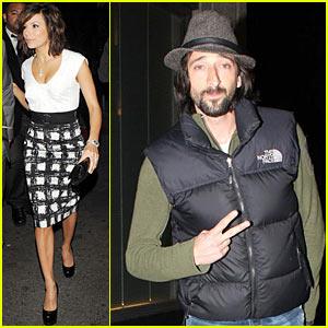 Adrien Brody & Eva Longoria: Beso Bunch