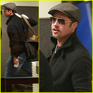 Brad Pitt Is Swift Through Security