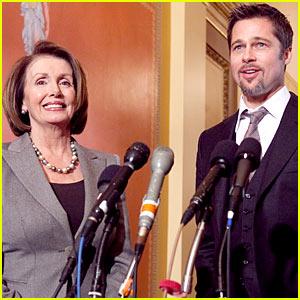 Brad Pitt & Nancy Pelosi Make It Right