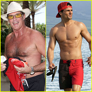 David Hasselhoff is Shirtless