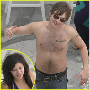 Ed Westwick is Shirtless