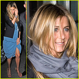 Jennifer Aniston Shows Off Some Leg
