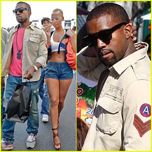 Kanye West Comes Up Roses