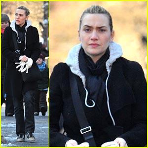Kate Winslet Keeps Warm in West Village