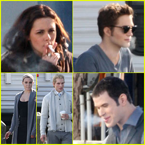 'New Moon' Cast is Smoking -- Literally!