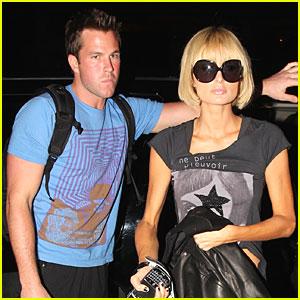 Paris Hilton Has PDA at LAX