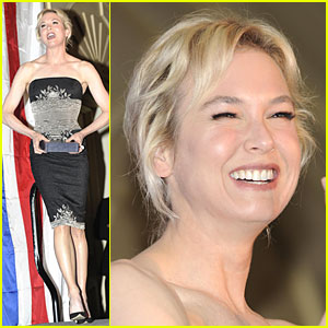 Renee Zellweger Smiles for Soliders