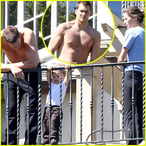 Tom Brady Joins Entourage, Is Shirtless