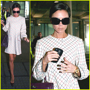 Victoria Beckham Heads To Heathrow