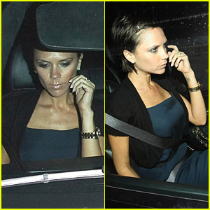 Victoria Beckham Kicks It With Katie Holmes